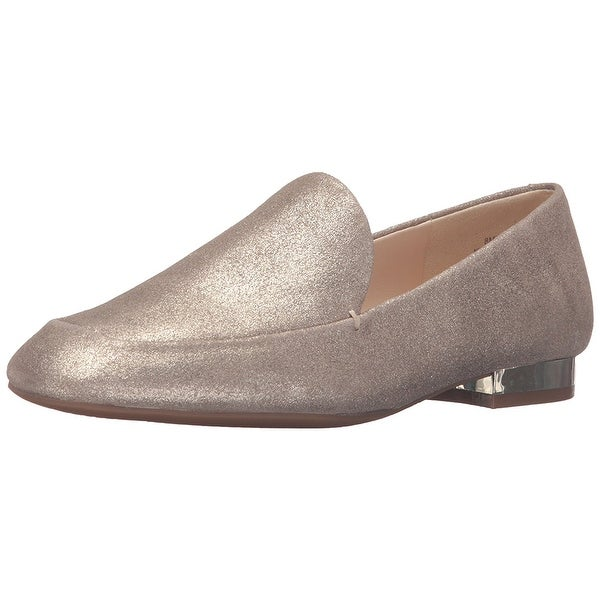 Nine West Womens Xalan Leather Square Toe Loafers