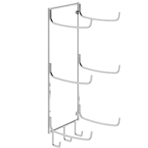 Wallniture Guru Wall Mount Foam Roller and Yoga Mat Holder, Towel Rack with 3 Hooks