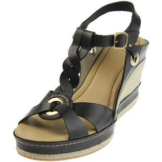 Andre Assous Womens Phillie Leather Braided Wedges - 8.5