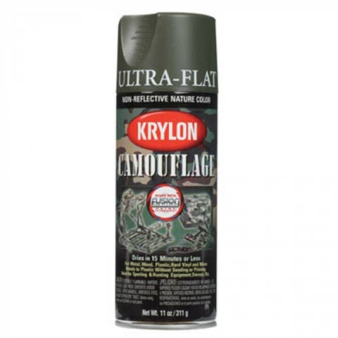 Krylon 4293 Camouflage Spray Paint, 11 Oz, Olive