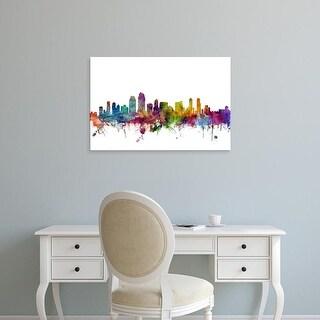 Easy Art Prints Michael Tompsett's 'San Diego California Skyline' Premium Canvas Art