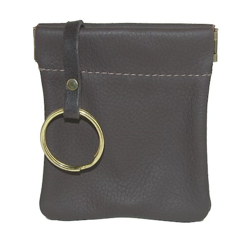 CTM® Men's Leather Key Case Coin Pouch Wallet - one size