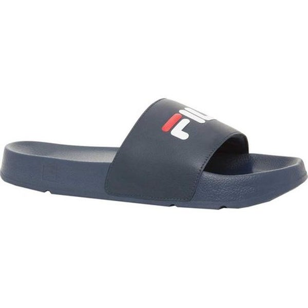 cc6a99e8 Shop Fila Men's Drifter Slide Fila Navy/Fila Red/White - On ...