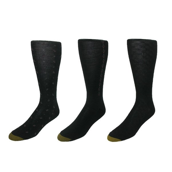 Gold Toe Men's Over the Calf Dress Sock (Pack of 3), Shoe Size 6 - 12 1/2