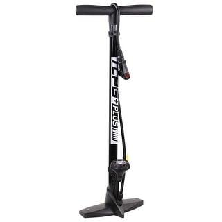 Serfas Thermo Carbon Plus Bicycle Floor Pump w/Gauge - Black - TCPG-PLUSBK