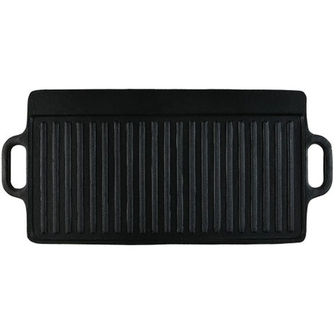 Sunnydaze Cast Iron Reversible Grill Griddle Pre-Seasoned Pan Large 20-Inch