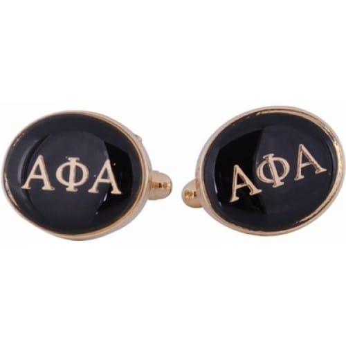 Alpha Phi Alpha Black Gold Fraternity Greek  Cufflinks