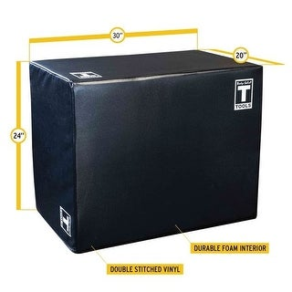 "Body-Solid 3-Way Soft Plyo Box, 20"", 24"", 30"" - Black"
