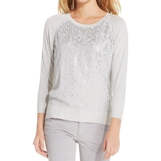 Calvin Klein Womens Blouse Sequin Embellished