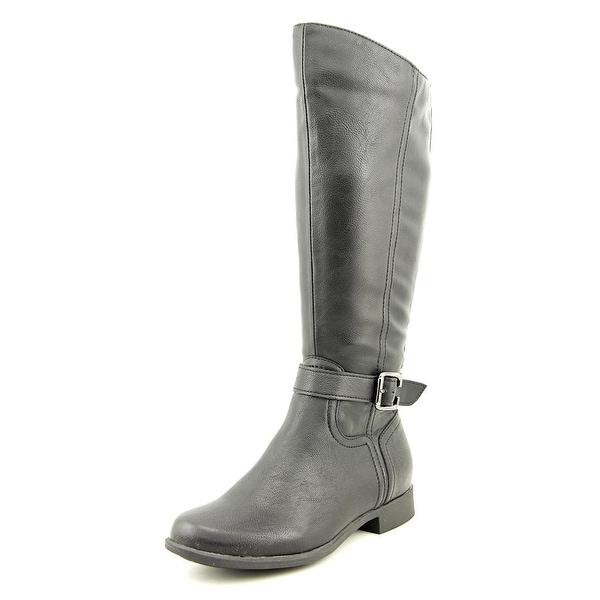 Hush Puppies Bikita Women Round Toe Synthetic Black Mid Calf Boot
