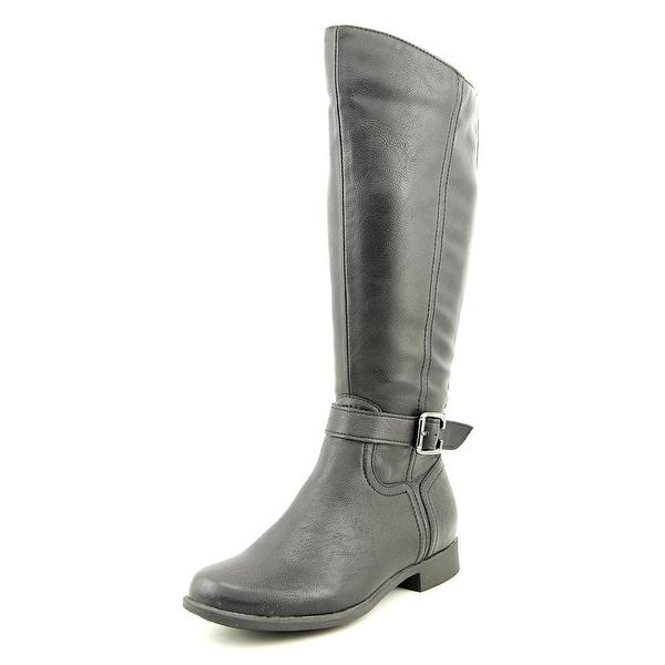 Hush Puppies Bikita Women Round Toe Synthetic Black Mid Calf Boot