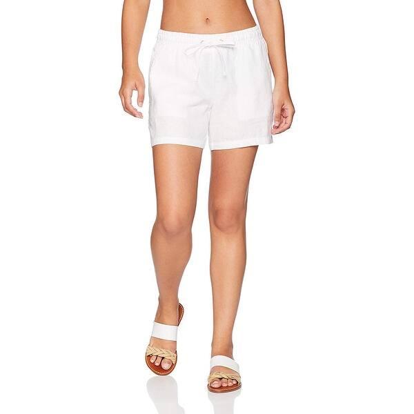 Essentials 5 Drawstring Solid Linen Short Mujer