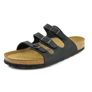 Birkenstock Florida Open Toe Leather Slides Sandal