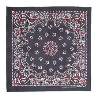 CTM® Multi Color Paisley Bandana - One Size