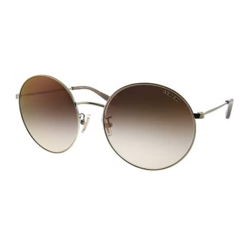 Coach L1012 HC 7078 9005AO Womens Light Gold Frame Brown Gradient Lens Sunglasses