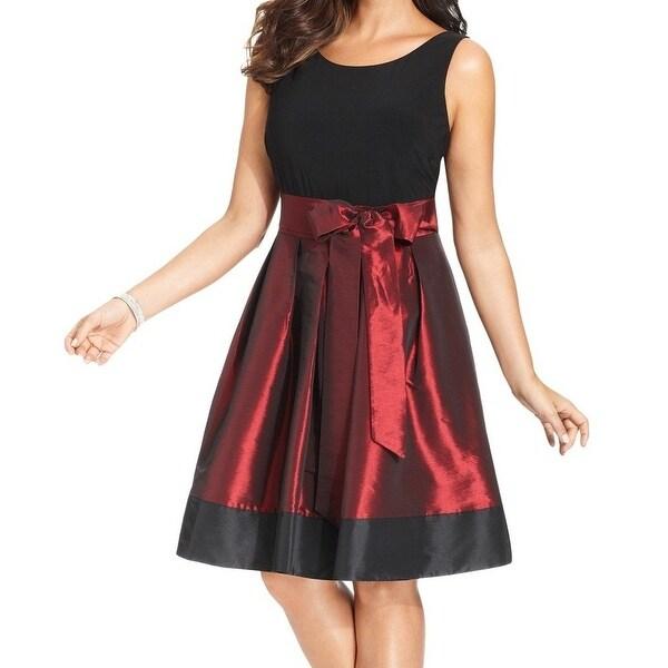 Shop Slny New Black Red Women S Size 22w Plus Pleated