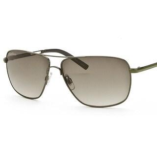 perry ellis mens metal aviator sunglasses gunmetal olivepe242 includes perry ellis