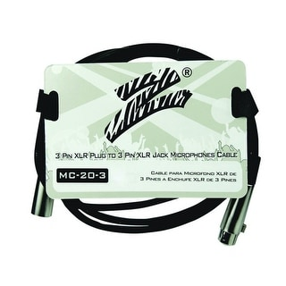 Zebra Mic Cable 3 ft, 3 Pin to 3 Pin