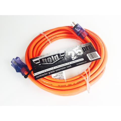Bold 25' 12/3 AWG SJTW Contractor Grade Lighted Extension Cord, Orange