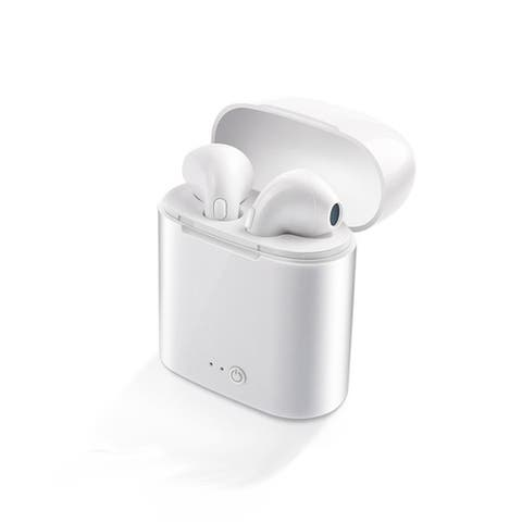 Wireless Bluetooth 5.0 Headphone EarBuds by Indigi - Universally Compatible (Charging Case Included)