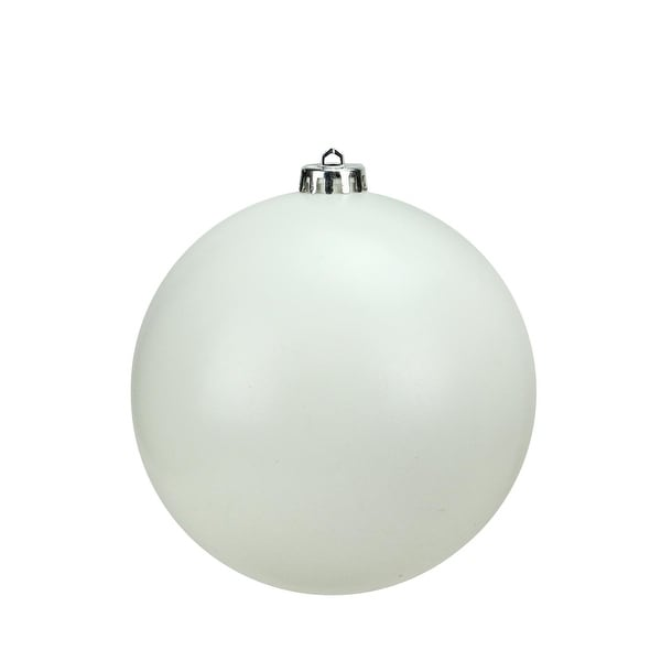 "Matte Winter White Commercial Grade Shatterproof Christmas Ball Ornament 6"" (150mm)"