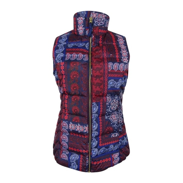 189621a9607 Shop Tommy Hilfiger Women's Paisley Patchwork-Print Puffer Vest (Multi, XS)  - Multi - xs - Free Shipping Today - Overstock - 17795608