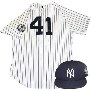 Justin Wilson Uniform NY Yankees 2015 Game Used 41 Jersey and Hat w Pettitte Retirement Patch