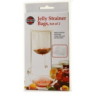 Norpro 100% Cotton Reusable Jelly Strainer Bags - 2 pack - White