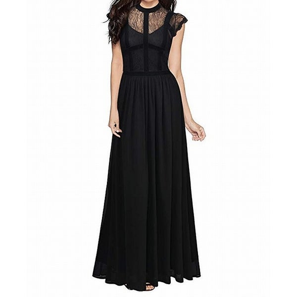 b007c083c1c Shop Miusol Black Womens Size XXL Plus Gown Floral Sheer Lace Gathered Dress  - Free Shipping On Orders Over  45 - Overstock.com - 27050756