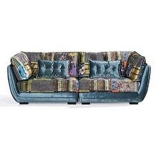 Luxury Design Art Deco Patchwork Printed Sofa