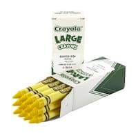 Crayola Large Non-Toxic Single-Color Crayon Refill, 7/16 X 4 in, Yellow, Pack of 12
