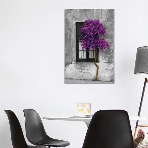 "iCanvas ""Tree in Front of Window Purple Pop Color Pop"" by Panoramic Images Canvas Print"