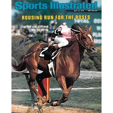 Affirmed signed Kentucky Derby Horse Racing 16X20 Photo Sports Illustrated  Cover May 5 1978 w 1978