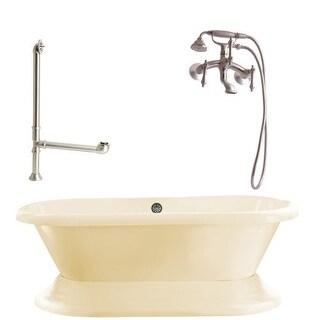 "Giagni LW1 Wescott 70-4/5"" Free Standing Soaking Tub Package - Includes Tub, Tub"