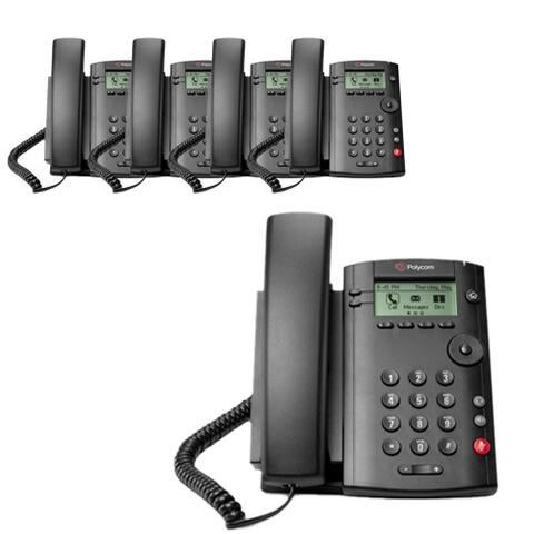Polycom VVX 101 (2200-40250-001) (5-pack) 1-line Desktop Phone with power supply