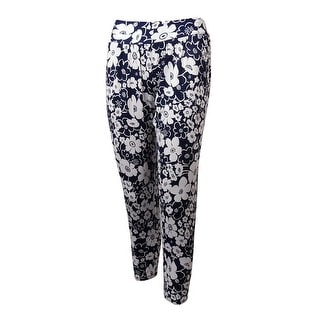 Anne Cole Women's Floral Print Tapered Pants Swim Cover