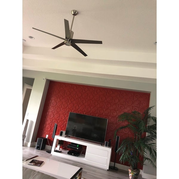 Minkaaire symbio 56 5 blade indoor ceiling fan with integrated minkaaire symbio 56 5 blade indoor ceiling fan with integrated led light kit full function remote and dc motor free shipping today overstock mozeypictures Images