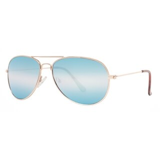 Kenneth Cole Reaction KC1248 32C Men's Gold Blue Mirror Aviator Sunglasses - 59mm-15mm-140mm