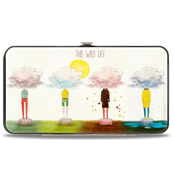 This Wild Life Clouded People Hinged Wallet - One Size Fits most