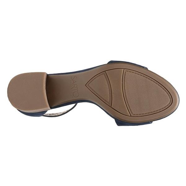Franco Sarto Womens Fidela 5 NuBuck Round Toe Casual Ankle Strap Sandals