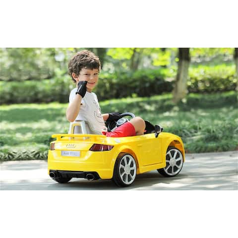 "Audi 12V Kids Ride on Battery Powered Electric Car With Remote Control - 7'6"" x 9'6"""