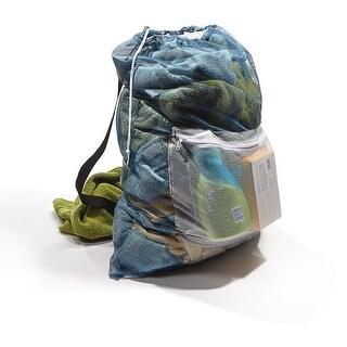 "Homz 1220220 Mesh Carry All Laundry Bag, 24"" x 36"", White"