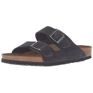 Birkenstock Mens Arizona Leather Slip On Open Toe Slides