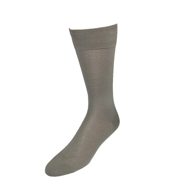 Vannucci Men's Mercerized Cotton Solid Color Dress Socks
