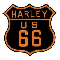 Harley-Davidson Route 66 Die-Cast & Embossed Tin Sign, 16.5 x 16 inches 2010261