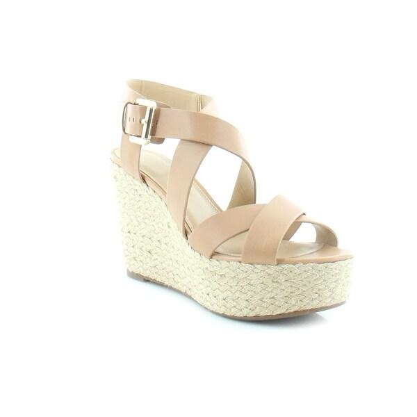 357721ff38 MICHAEL Michael Kors Celia Wedge Women's Sandals & Flip Flops  Suntan