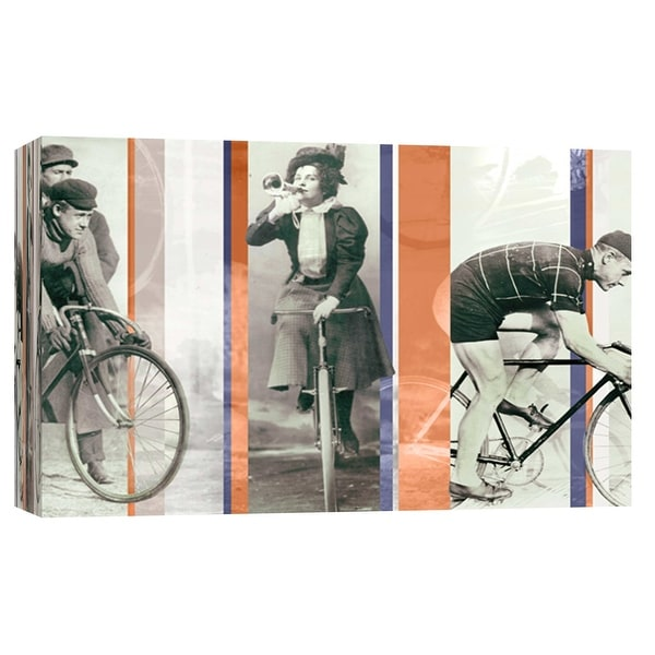 """PTM Images 9-102223 PTM Canvas Collection 8"""" x 10"""" - """"Vintage Bicycling"""" Giclee Bicycling Art Print on Canvas"""