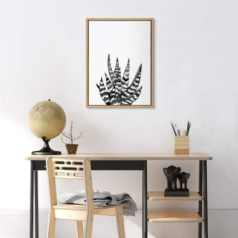 Kate and Laurel Sylvie It Can Be a Zebra Framed Canvas by Maja Mitrovic of Makes My Day Happy