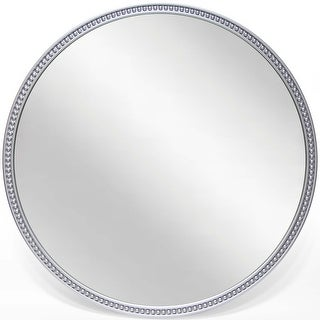 Link to Charme 22 inch Durable Resin Decorative Silver Round Wall Mirror - Grey/Silver Similar Items in Mirrors