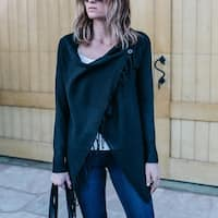 Lightweight Long Sleeve Fringe Cardigan